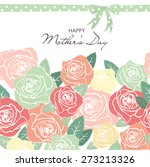 mother's day card | Shutterstock .eps vector #273213326