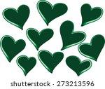 vector heart shapes | Shutterstock .eps vector #273213596