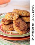 cutlets of crushed barley... | Shutterstock . vector #273218498
