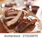 grilled pork spare ribs in... | Shutterstock . vector #273220070