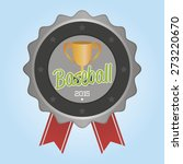 isolated label with baseball... | Shutterstock .eps vector #273220670