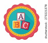 abc blocks flat icon with long... | Shutterstock .eps vector #273221378