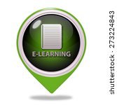 e learning pointer icon on... | Shutterstock . vector #273224843