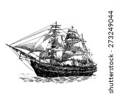 columbus ship hand drawn on... | Shutterstock .eps vector #273249044
