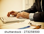 businessman sitting in office ... | Shutterstock . vector #273258500