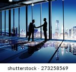 businessmen shaking hands... | Shutterstock . vector #273258569
