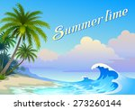 summer background with waves | Shutterstock .eps vector #273260144