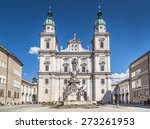 Famous Salzburg Cathedral ...