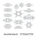 set of vector geometric symbols ... | Shutterstock .eps vector #273262754