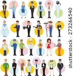 cartoon vector characters of... | Shutterstock .eps vector #273266540