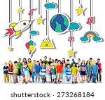 mobile sculpture hanging wind... | Shutterstock . vector #273268184