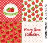 homemade strawberry jam... | Shutterstock .eps vector #273271673