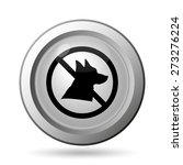 forbidden dogs icon. internet... | Shutterstock . vector #273276224