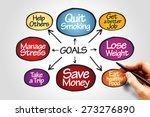 goals diagram business concept | Shutterstock . vector #273276890