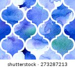 watercolour moroccan background.... | Shutterstock .eps vector #273287213