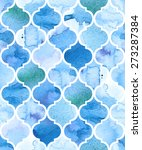 watercolour moroccan background.... | Shutterstock .eps vector #273287384
