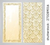 flyers with arabesque decor  ...   Shutterstock .eps vector #273289016