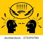two angry men. people... | Shutterstock .eps vector #273293783