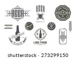 vector beer labels and design... | Shutterstock .eps vector #273299150