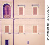 facade of the italian house ... | Shutterstock . vector #273300734
