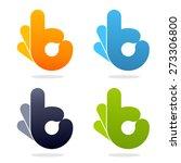 ok vector logos set. colorful...