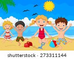 cartoon summer day | Shutterstock .eps vector #273311144