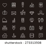 valentines white outlined icon... | Shutterstock .eps vector #273313508