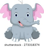 cute baby elephant cartoon | Shutterstock . vector #273318374