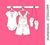 baby girl clothes | Shutterstock .eps vector #273321599