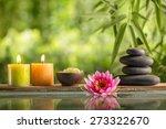 spa still life with burning... | Shutterstock . vector #273322670