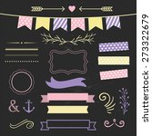 set of design elements on...   Shutterstock .eps vector #273322679