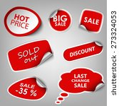 red collection stickers sale... | Shutterstock .eps vector #273324053