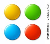 set of blank  colorful badges.... | Shutterstock .eps vector #273333710
