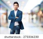 chinese man standing | Shutterstock . vector #273336230