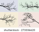 silhouettes of tree branches | Shutterstock .eps vector #273336620