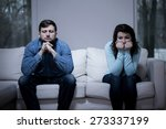 couple after argument sitting... | Shutterstock . vector #273337199