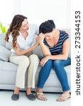 therapist comforting her... | Shutterstock . vector #273344153