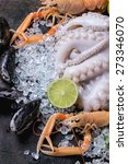 raw langoustine  mussels and... | Shutterstock . vector #273346070