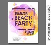 summer night party vector flyer ... | Shutterstock .eps vector #273346574