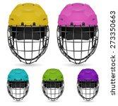 set of goalkeeper hockey...   Shutterstock .eps vector #273350663