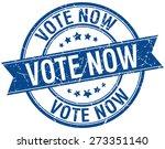 vote now grunge retro blue...   Shutterstock .eps vector #273351140