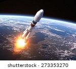 Heavy Carrier Rocket Launch. 3...