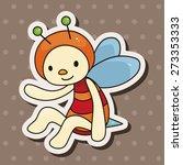 bee cartoon   cartoon sticker... | Shutterstock . vector #273353333