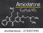 Small photo of Blackboard with the chemical formula of Amiodarone