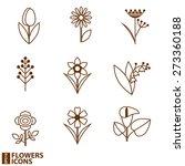 flowers icons.vector... | Shutterstock .eps vector #273360188