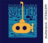 summer graphic design with a... | Shutterstock .eps vector #273361394