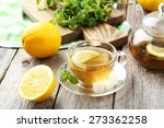 cup of tea with mint and lemon... | Shutterstock . vector #273362258
