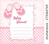 Stock vector baby shower card vector illustration 273364769