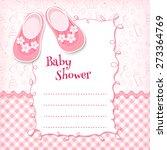 Stock vector baby shower card vector illustration 273364769