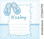 Stock vector baby shower card vector illustration 273364790